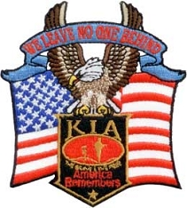 KIA America Remembers Flag & Eagle Patch