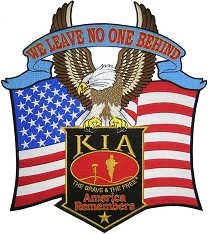 Large KIA America Remembers Flag & Eagle Patch