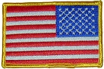 Right Facing American Flag Uniform Patch
