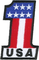 Patriotic #1 USA Patch