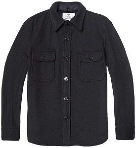 Fidelity Mens Wool Naval CPO Shirt Jacket
