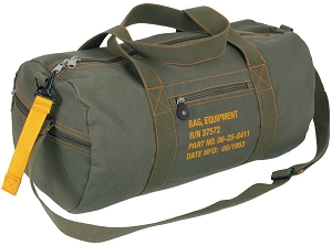 Olive Green Canvas Equipment Bag