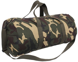 Camouflage Canvas Shoulder Duffle Bag