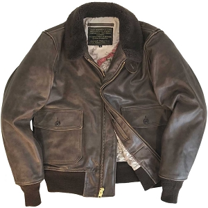 f94bff57bfa Legendary Wildcat Mens G-1 Vintaged Leather Flight Jacket