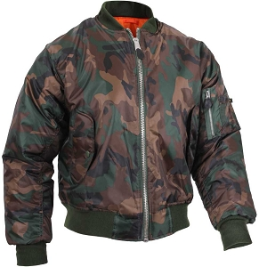 Rothco Mens Camouflage MA-1 Nylon Flight Jacket