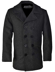 Schott NYC Mens 740 Dark Oxford Grey Wool Peacoat