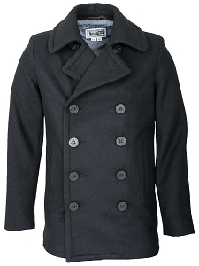 Schott NYC Mens 751 Slim Fit Wool Fashion Peacoat