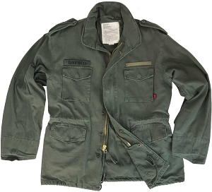 Rothco Vintage Mens Military Olive M65 Field Jacket