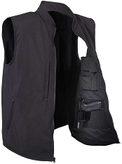 Rothco Mens Black Tactical Soft Shell Vest