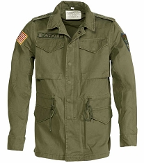 CLEARANCE - Schott NYC Mens 8705 Vintaged 13th Cavalry Olive Field Jacket