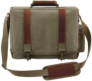 Vintage Olive Pathfinder Laptop Bag