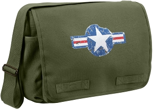 Air Corps Heavyweight Olive Messenger Bag