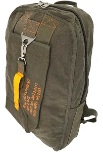 Olive Green Vintage Canvas Flight Bag