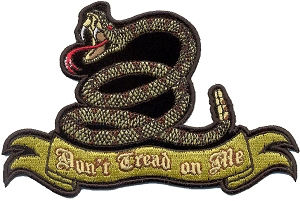 Don't Tread On Me Snake Patch