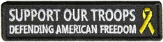 Support Our Troops Defending American Freedom Patch
