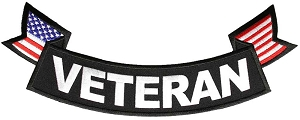 Veteran Bottom Rocker Patch