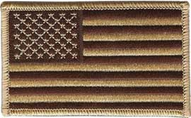 Desert Camouflage American Flag Uniform Patch