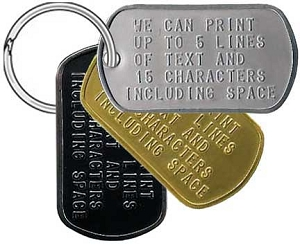Custom Military Dog Tag Key Ring