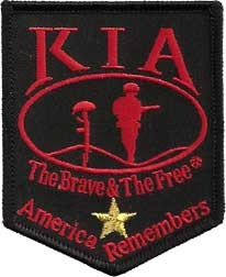 Killed In Action KIA Gold Star Patch