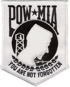 White POW-MIA Patch