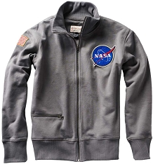 NASA Rocket Scientist Grey Zip Fleece Jacket