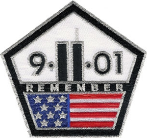 Remember 9-11-01 Pentagon Shaped Patch