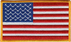3X5 Medium Sized American Flag Patch