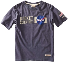 NASA Rocket Scientist Blue T-Shirt