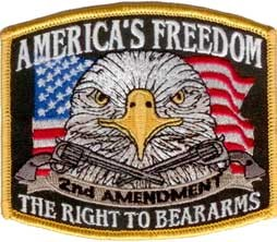 America's Freedom 2nd Amendment Patch