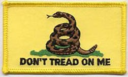 Don't Tread On Me Gadsden Flag Patch