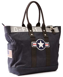 USAF Dark Navy Large Tote Bag