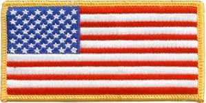 Velcro Backed American Flag Uniform Patch
