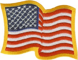 Waving American Flag Uniform Patch