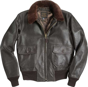 Cockpit Mens Mil Spec USN G-1 Leather Flight Jacket