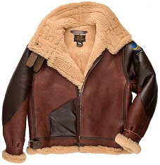 Cockpit Mens Pearl Harbor B-3 Sheepskin Bomber Jacket