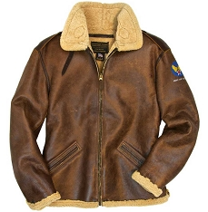 Cockpit Mens B-6 Shearling Bomber Jacket
