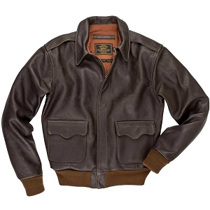 Cockpit Mens 40th Anniversary Horsehide A-2 Flight Jacket