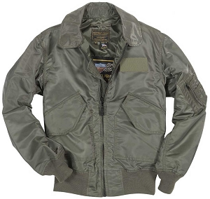 Cockpit Mens USN Fighter Weapons Nylon Flight Jacket
