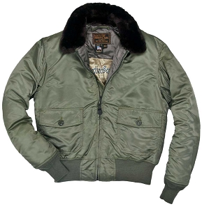 Cockpit Mens Nylon G-1 Fighter Weapons Jacket