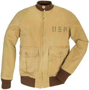 Cockpit USA Mens 371-J-1 USN Cotton Aviator Jacket