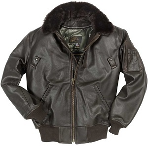 Cockpit Mens B-15 Cowhide Flight Jacket