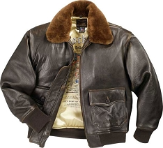 Cockpit Mens G-1 Antique Lambskin Leather Flight Jacket