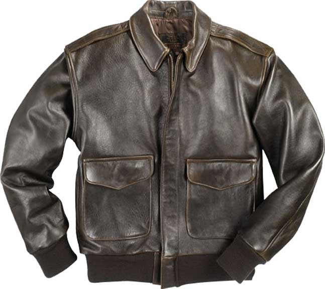 Cockpit Mens Antique Lambskin Leather A-2 Flight Jacket