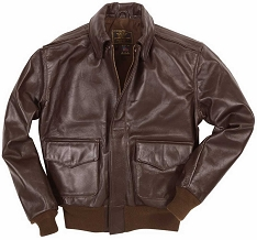 Cockpit Mens Horsehide A-2 Leather Flight Jacket
