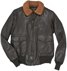 Cockpit Mens 100 Mission G-1 Aviator Leather Flight Jacket