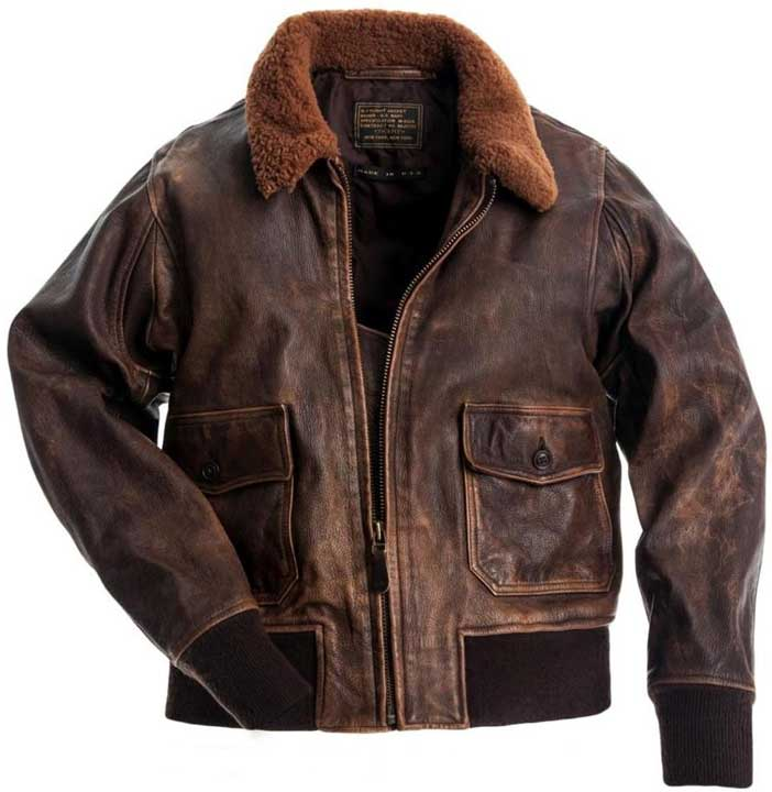 Mens Leather Flying Jacket - Jacket