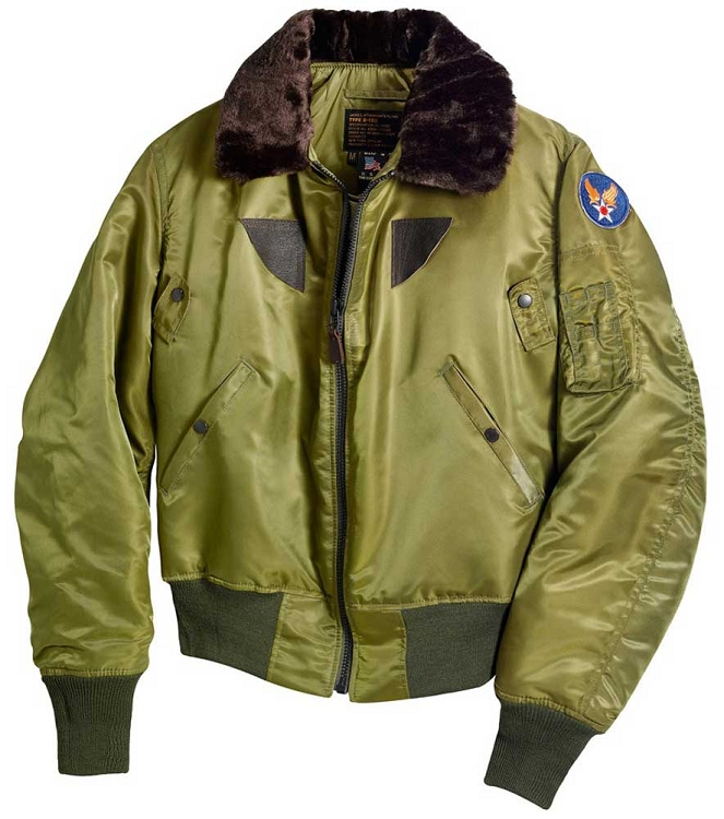 Cockpit Mens B-15 1943 Replica Nylon Flight Jacket