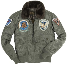 Cockpit Mens Nylon G-1 Top Gun Flight Jacket