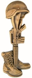 Helmet, Boot & Rifle Pin