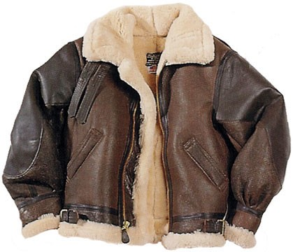Cockpit Mens The General B-3 Sheepskin Bomber Jacket